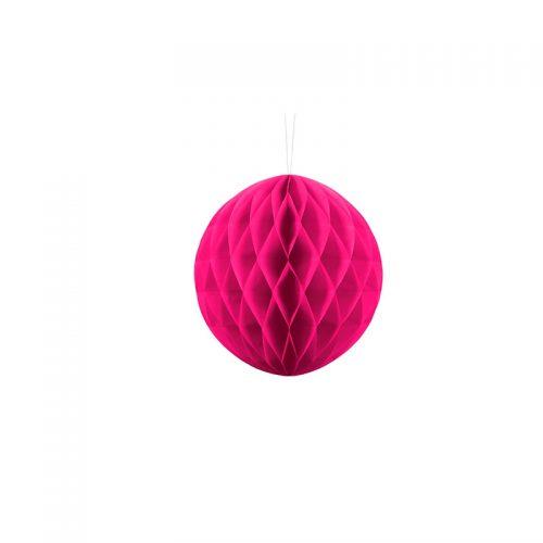 bolas de panal rosa fuerte -floristería iglesias