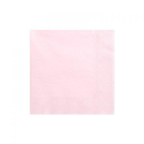 servilleta rosa claro -floristería iglesias