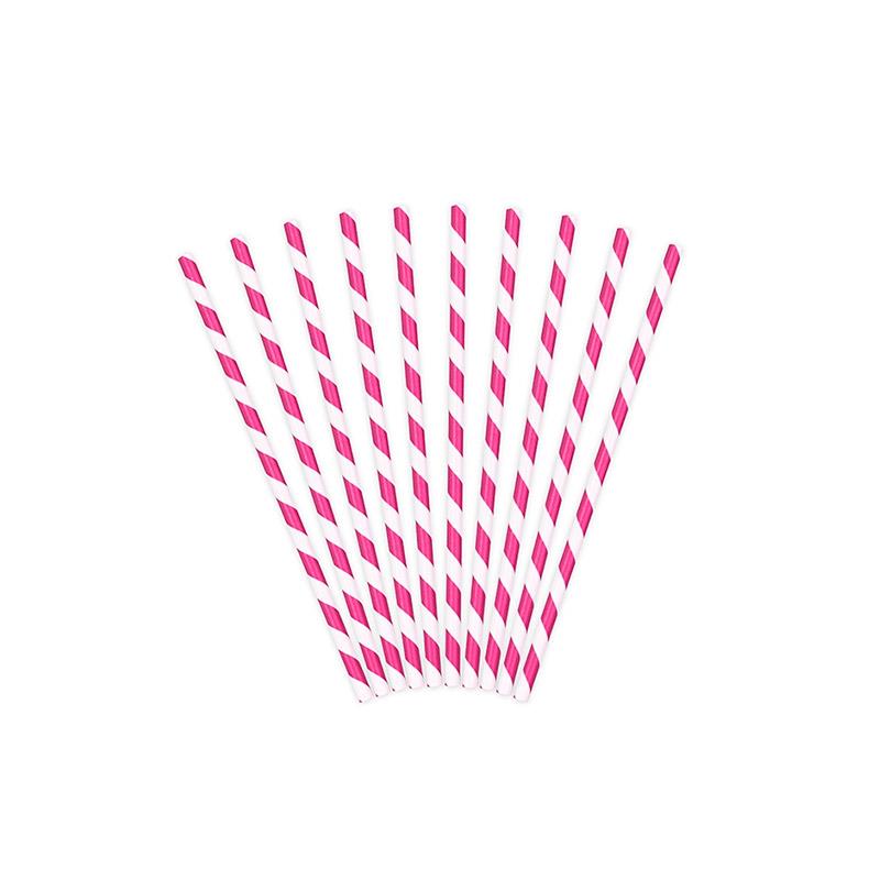 pajita rosa rayas -floristería iglesias