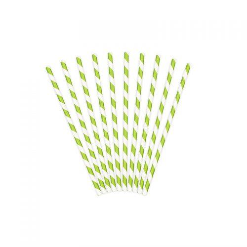 pajita verde rayas -floristería iglesias