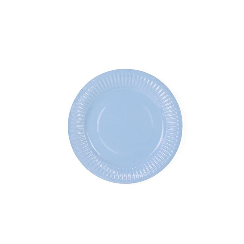 plato azul cielo -floristería iglesias