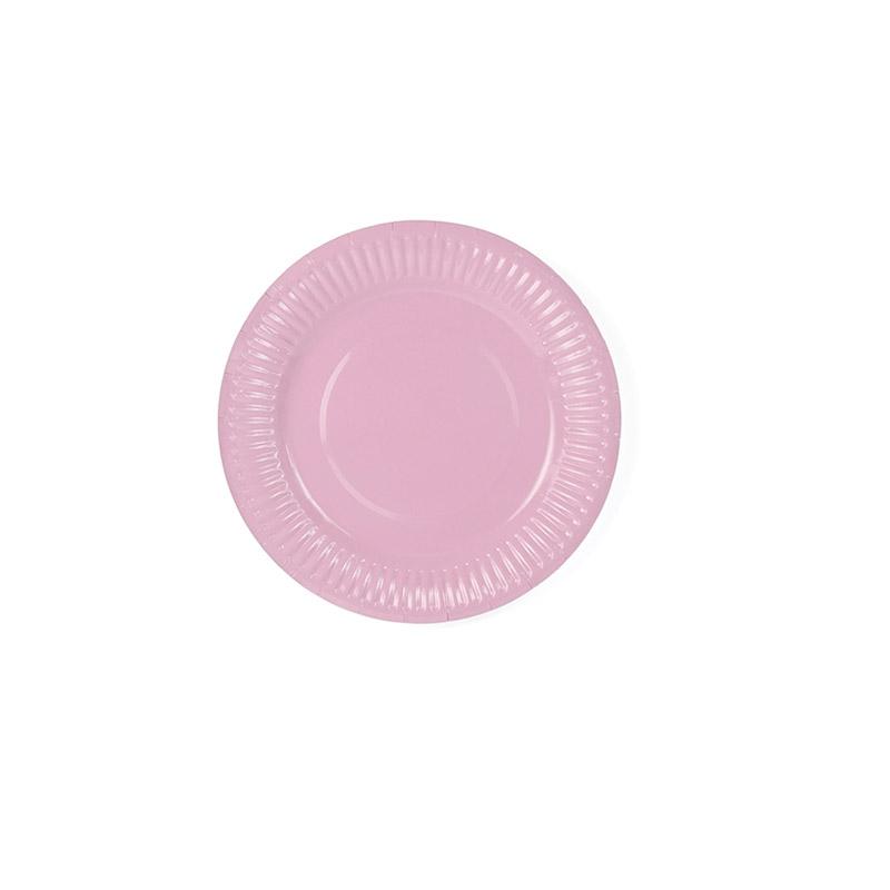 plato rosa-floristería iglesias