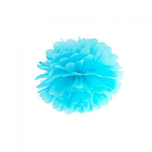 pompón azul-floristería iglesias