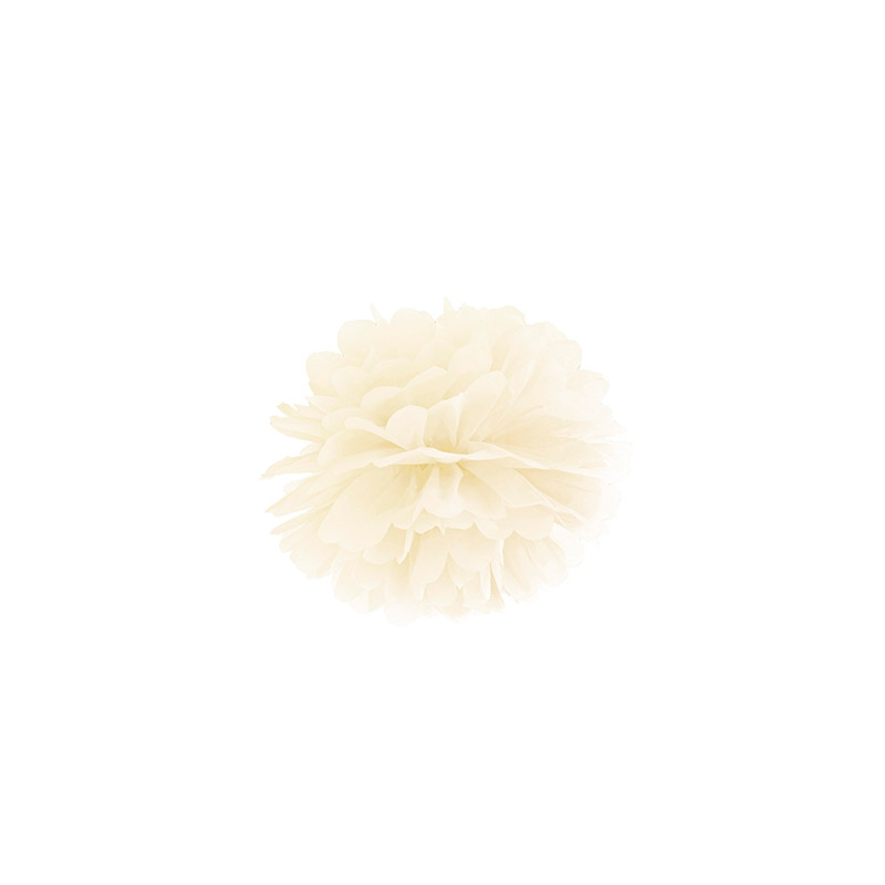pompón blanco-floristería iglesias