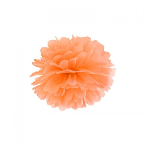 pompón naranja claro-floristería iglesias