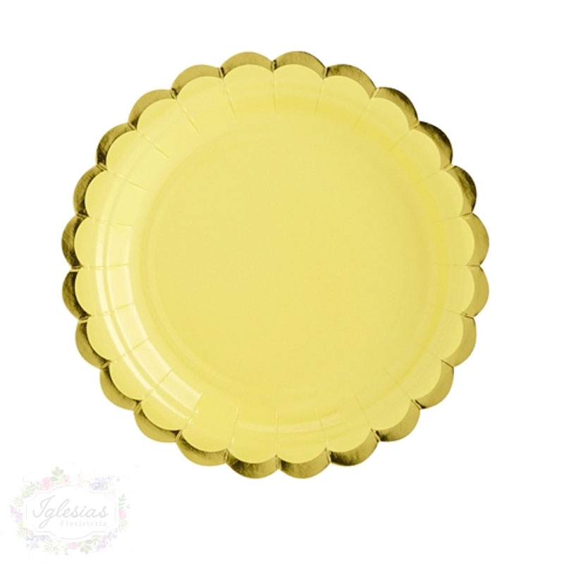 plato amarillo - iglesiasfloristeria - fiesta