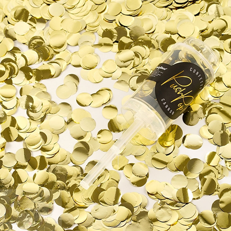 confeti dorado - iglesiasfloristeria - fiesta